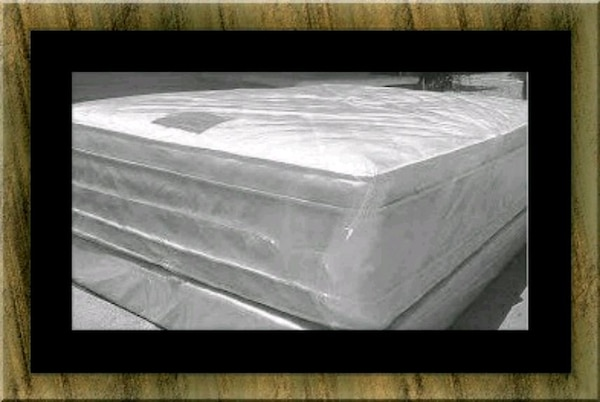 """Full 16"""" double pillow top mattress with boxspring"""