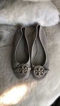 Tory Burch grey perforated leather size 7.5 Toronto, M9C