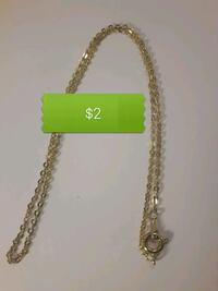 "BN bright gold tone children's chain necklace 13"" North Vancouver, V7M 1G4"