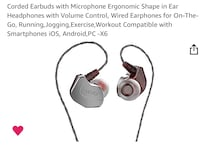 Corded Earphones w/Microphone High Quality Stereo Sound New in Box Lewisville, 75077