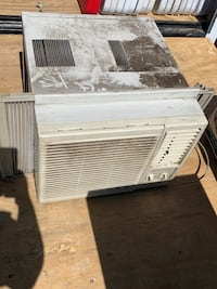 Air conditioner 8,000 btu need tape on the front. Clip broke