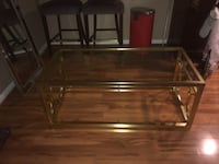 Coffee Table - Gold Chrome with Glass Top Rockville, 20850
