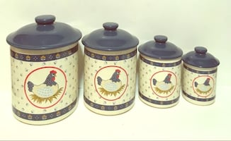 Country Hen Canister Set