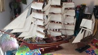 two brown-and-white galleon ship scale models Galt, 95632