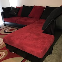 Red and black 2 piece sectional Riverview, 33579