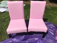 Pink pleather kids chairs (both) New Westminster, V3L 2V2