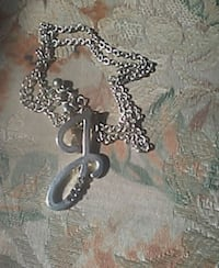 silver-colored chain link necklace with J pendant Dardanelle, 72834