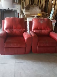 Leather red recliners work perfectly
