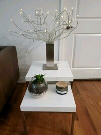Stacking White Side Tables