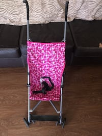 black and pink floral print umbrella stroller London