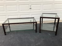 Metal and Glass Coffee Table and 1 End Table  Manassas, 20112