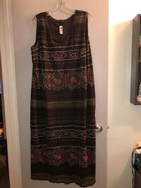 Stunning Un Deux Trois plus size 22 lined stretchy maxi dress!