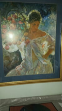 Woman with flowers print 29x35  Vancouver, 98683