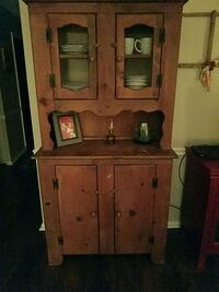 brown wooden cabinet with hutch Greenfield, 46140