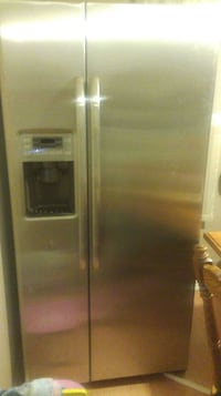 stainless steel side-by-side refrigerator with dispenser Hamilton, L8E 1H9