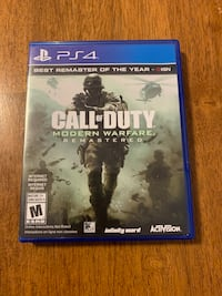 Call of duty modern warfare remastered. Ps4 Barrie