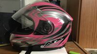 pink and black AFX full face motorcycle helmet Magnolia, 19962
