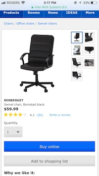 Office chair from Ikea Toronto, M5B 1S8