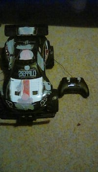 black and white RC car
