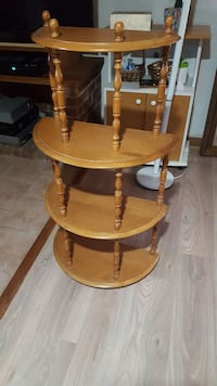 brown wooden 4-layered rack Val-Morin, J0T 2R0