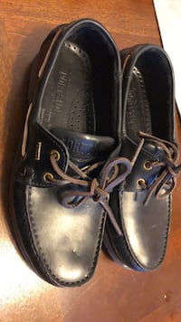 Pair of black leather shoes used one time Cambridge, N1R 6M8
