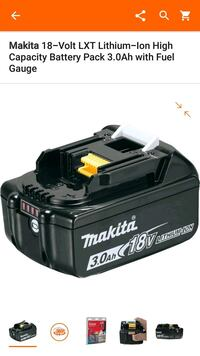 black Makita 18-volt battery pack screenshot Milford Mill, 21244