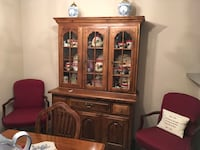 brown wooden china cabinet with cabinet Greenbelt, 20770