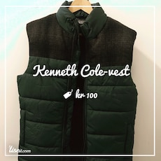 Svart Kenneth Cole zip-up vest