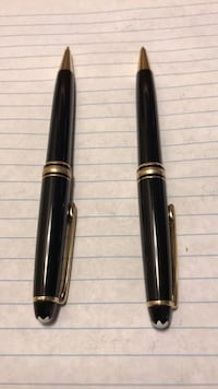 two brown and black cue sticks Campbell, 95008