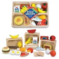 New Melissa & Doug wooden food groups Vancouver, V5V