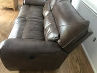Brown  leather 2-seat sofa Fairfax, 22030