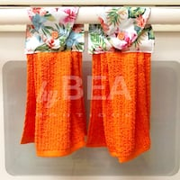 Two (2) tropical kitchen towels - bright orange Tampa, 33612