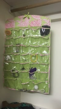 green and pink floral hanging fabric organizer Wilmington, 28405