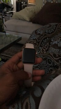 silver aluminum case Apple Watch with white sport band Baltimore, 21237