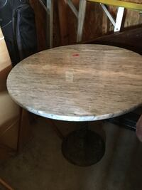 Italian Marble Round Table PURCELLVILLE