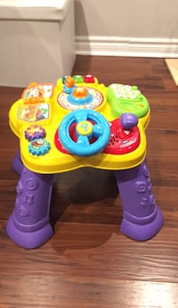 Toddlers purple and yellow activity table