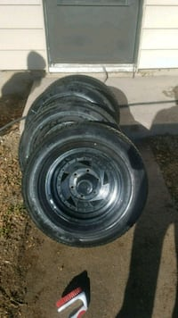 4 tires and rim excellent condition  Colorado Springs, 80905