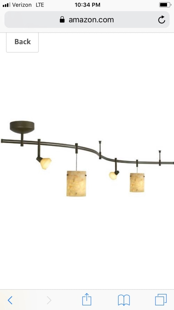 Track Lighting With Hand Blown Pendant Lights