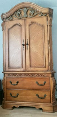 brown wooden cabinet with drawer Waldorf, 20601