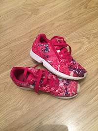 pair of pink-and-white floral sneakers London, E17 3JH