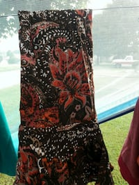 women's black and red floral sleeveless dress Winchester, 40391