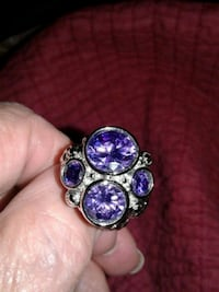 925 Sterling Amethyst size 8 King George, 22485
