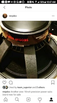 18inch precision power subwoofers (2) Montgomery, 36111
