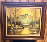 brown wooden framed painting of trees Aurora, 80017