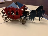 Horse and carriage pop up card Ashburn, 20148