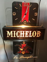 Vintage, Michelob wall clock Burke