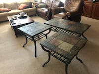 Slate coffee table and couch end tables Virginia Beach, 23452