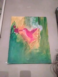 green and pink abstract painting Macon, 31201