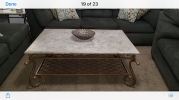 Marble 3 piece table set