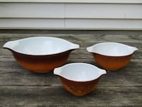 Vintage Pyrex Old Orchard Mixing Bowls